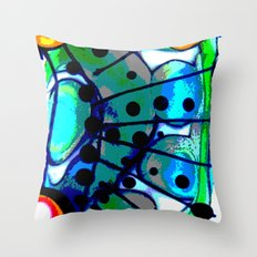 Abstract Explotion Throw Pillow