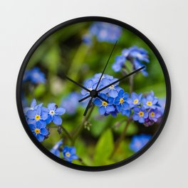 Forget-Me-Nots 1 Wall Clock