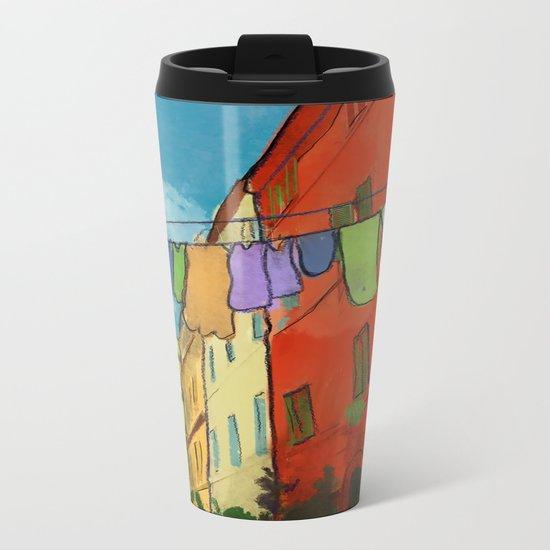 Laundry in Trastevere Metal Travel Mug