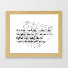 Earnest's typwriter Framed Art Print