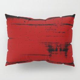 Black Grunge on Red Pillow Sham