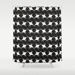 Flower of Life Pattern Rhomboids Shower Curtain