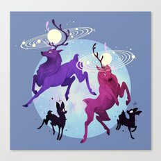 Solar Stags Canvas Print