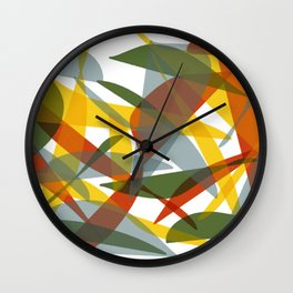 Abstract Whale / Abstract Snail Wall Clock