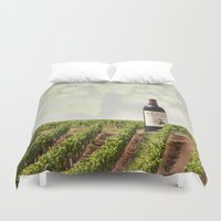 wine Duvet Covers featuring Wine by Gouzelka