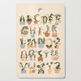 House Plant Alphabet Cutting Board