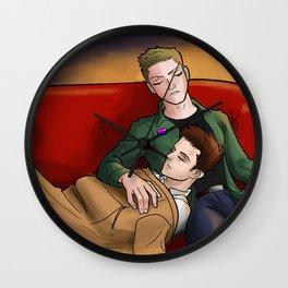 Destiel Naps Wall Clock