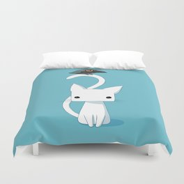 Cat and Raven Duvet Cover