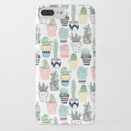 Cute Cacti in Pots iPhone Case