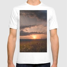 In the middle of the Summer MEDIUM Mens Fitted Tee White