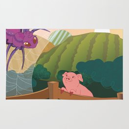 The spider and the pig Rug