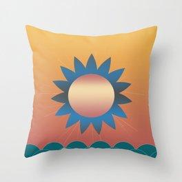 Golden Sunset 2 Throw Pillow