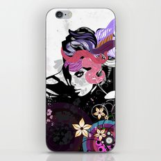 Floral girl iPhone & iPod Skin