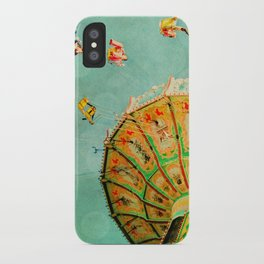 You Spin Me Right Round Carnival Swing iPhone Case