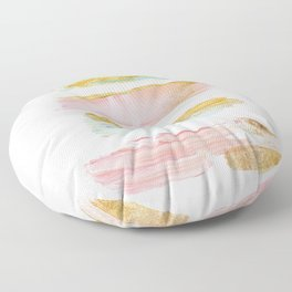 Pastel and gold strokes Floor Pillow