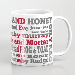 Cockney Rhyming slang on English flag Coffee Mug