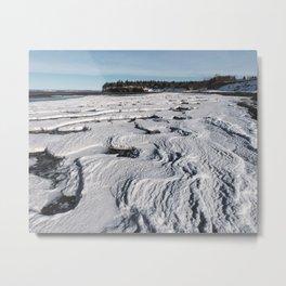 Layered Tides Metal Print