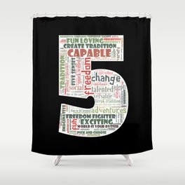 Life Path 5 (black background) Shower Curtain