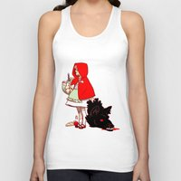 red hood Tank Tops featuring Little Red Hood by Madeoftin