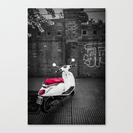 Scooter on the street Canvas Print