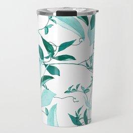 fresh green leaf pattern Travel Mug