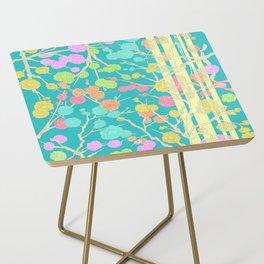 Bright Cherry Blossom Stripe Side Table