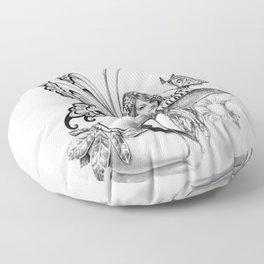 toadstool fairy Floor Pillow