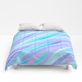 Pastel Pink, Purple, and Light Blue Stripes Comforters