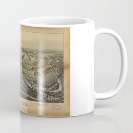 Aerial View of Factoryville, Pennsylvania (1891) Coffee Mug