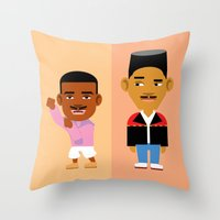 fresh prince Throw Pillows featuring The Fresh Prince by Evan Gaskin