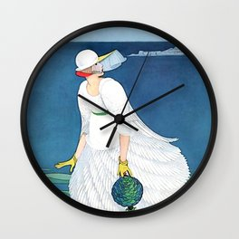 "George Wolfe Plank Art Deco Design ""On The Beach"" Wall Clock"