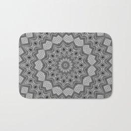 Shades of Grey and Black Mandala Kaleidoscope A128B Bath Mat