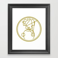 Merry Christmas from Gallifrey Framed Art Print