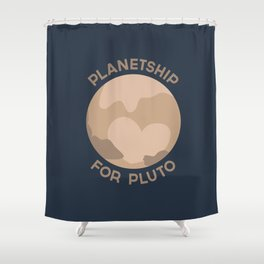 Planetship For Pluto Shower Curtain