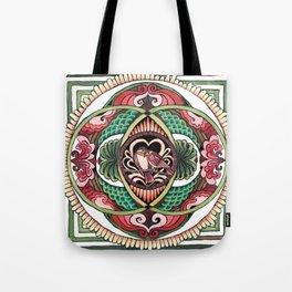 Lovebird Mandala Tote Bag