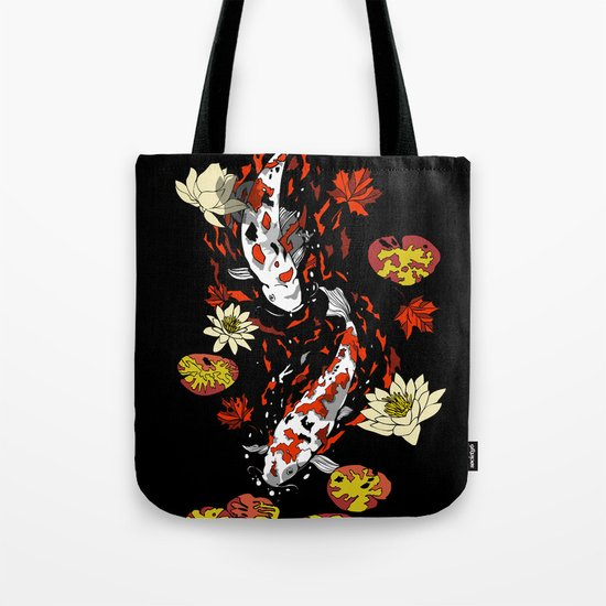 FALLING FISHES Tote Bag
