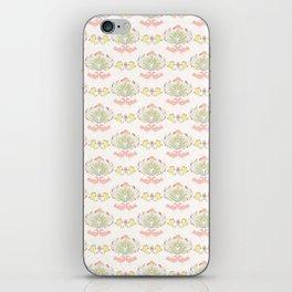 Pastel Folk Art Birds and Flowers iPhone Skin
