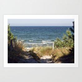 Sand Dune on the Isle of Ruegen Art Print