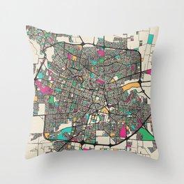 Colorful City Maps: Cordoba, Argentina Throw Pillow
