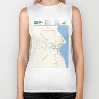 milwaukee Biker Tanks featuring Milwaukee Transit System Map by Carticulate Maps