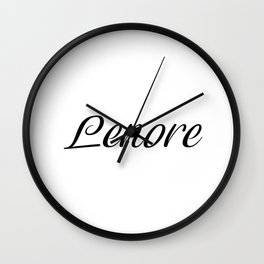 Name Lenore Wall Clock