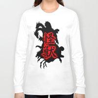kaiju Long Sleeve T-shirts featuring Kaiju Japan by PCRK
