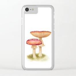 Mushroom Painting | Fly Agaric | AMANITA MASCARA | Watercolour Clear iPhone Case