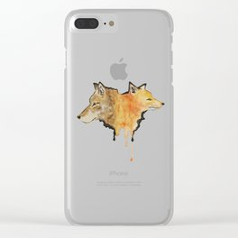 A Fox is a Wolf Who Sends Flowers Clear iPhone Case