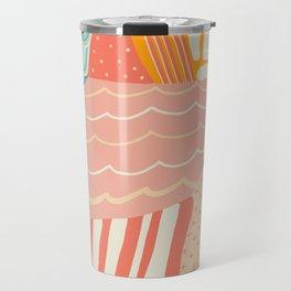 beach quilt Travel Mug