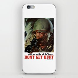 I Need You On The Job Full Time -- WWII iPhone Skin