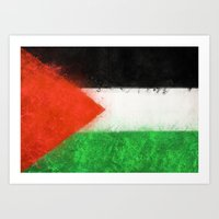 palestine Art Prints featuring Palestine by 2b2dornot2b