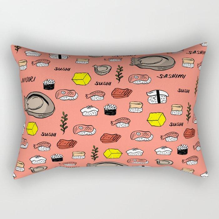 Sushi Zo Pattern Rectangular Pillow
