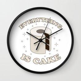 Everything Is Cake Meme Wall Clock