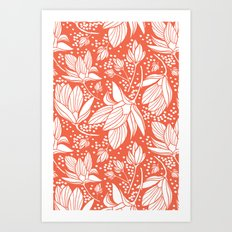 Magnolia Shower Art Print